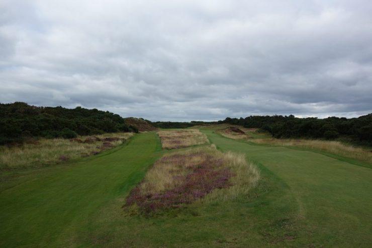 Tough 13th hole at Royal County Down