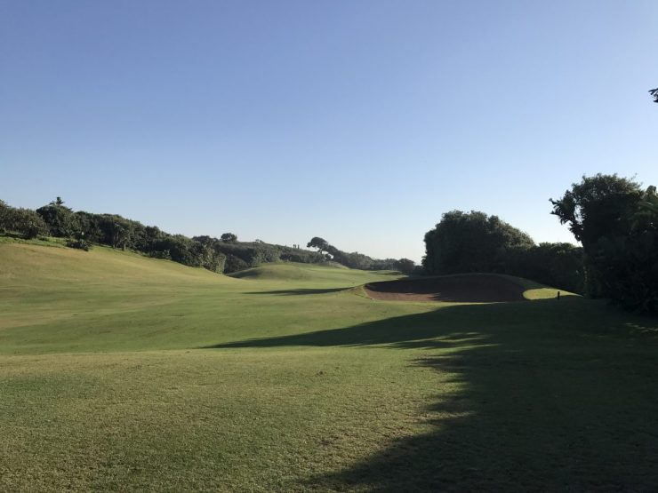 1st hole at Durban Country Club