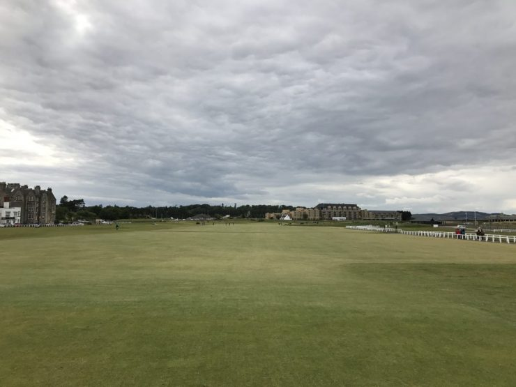 first hole at St. Andrews old course