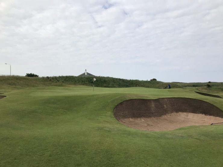 green view on first hole Turnberry Ailsa