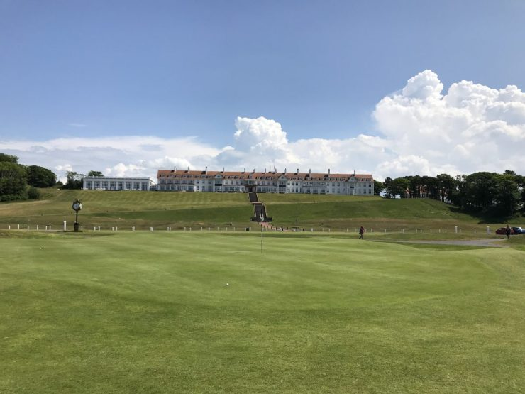 View of Turnberry hotel from 18th green