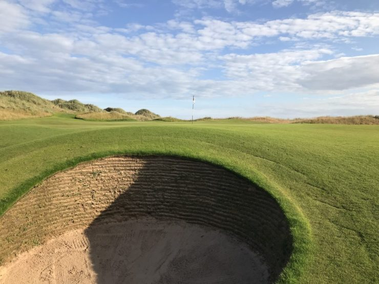 greenside bunker on 17th