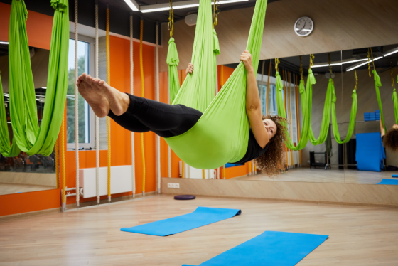 aerial yoga third attempt