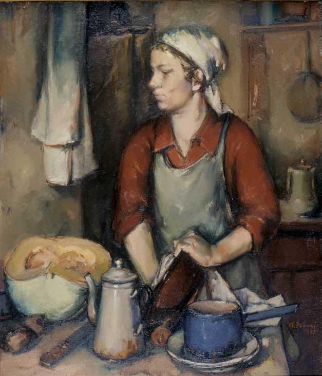 Andrus Johani (1906–1941). Köögis. 1935. Андрус Йохани (1906–1941). На кухне. 1935.