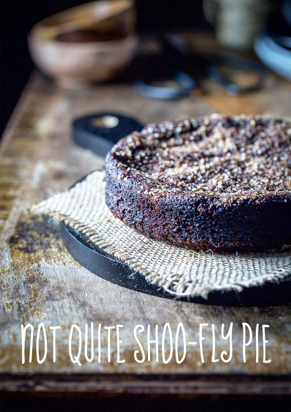 not quite shoo-fly pie