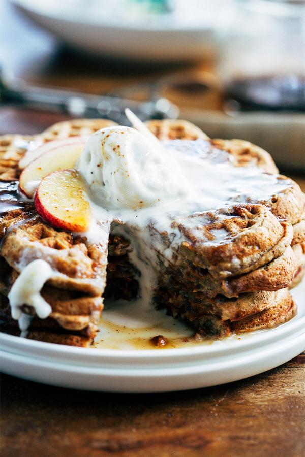 spiced apple pie waffles 6