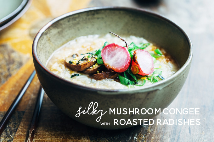 Mushroom Congee with Roasted Radish-5 copy