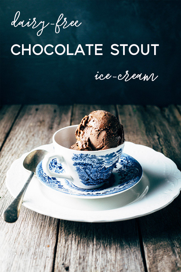 This dairy-free chocolate stout ice-cream is loaded with the richness of both chocolate and chocolate stout making it a decadent ice-cream treat.