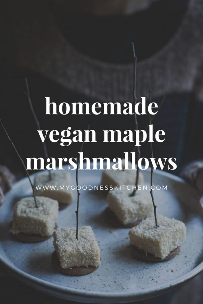 homemade vegan maple marshmallows-my goodness kitchen