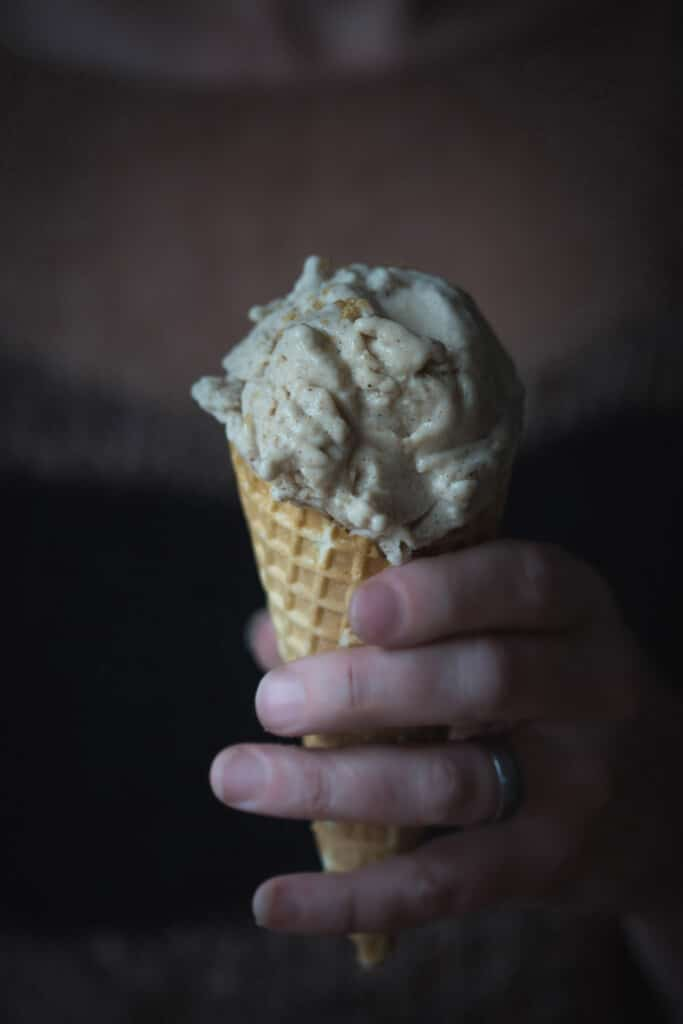 Never to let the seasons get between me and my ice-cream, this Wonderfully Decadent Vegan Gingerbread Ice-cream is a wonderfully creamy combination of ginger, cinnamon, nutmeg and maple.