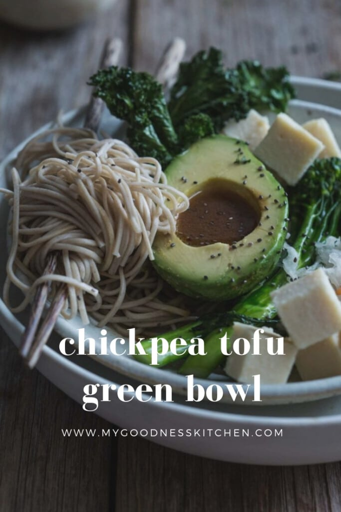 Served raw in this Game Changing Chickpea Tofu Green Bowl, chickpea tofu is a deliciously smooth soy-free tofu option full of potential | my goodness kitchen | vegan