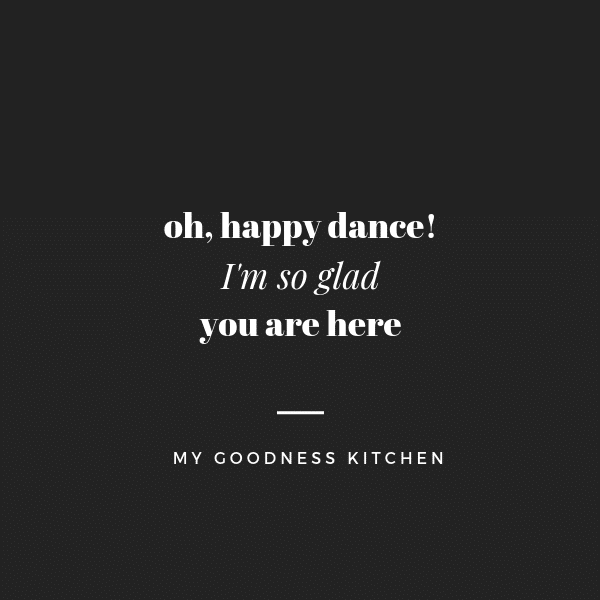"A sign that says ""oh happy dance, I\'m so glad you are here\""."