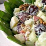 Close-up shoot of a bowl of waldorf salad