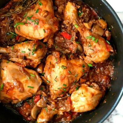 Hearty One-Pot Chicken Stew with Mushrooms
