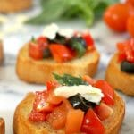 Italian Tomato Bruschetta, a posh and tasty Italian starter for any occasion. It might look simple, but it's heavenly flavourful and tasty.