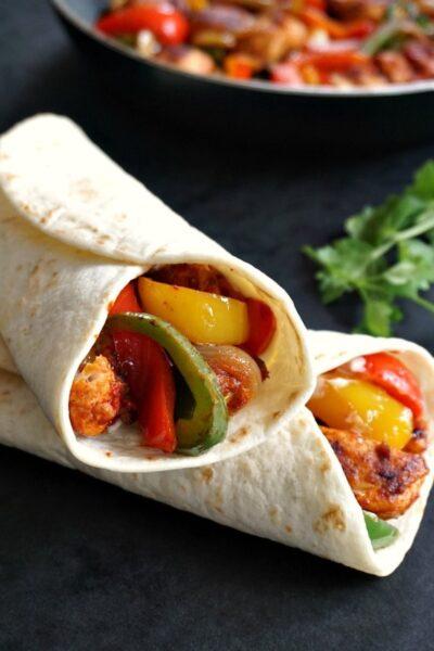 Mexican chicken fajitas recipe