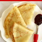 Authentic French Crêpes Recipe, a truly gourmet breakfast or brunch better than at any fancy restaurant. Quick and easy to make, with an endless choice of fillings, these crepes are so delicious. A favourite recipe with kids too. Serve these crepes with any jam, nutella, peanut butter or just sugar, you are in for a treat! These crepes are a traditional French recipe, perfect for Pancake Day or any other time of the year. #crepes, #pancakes, #pancakeday, #breakfast, #brunch