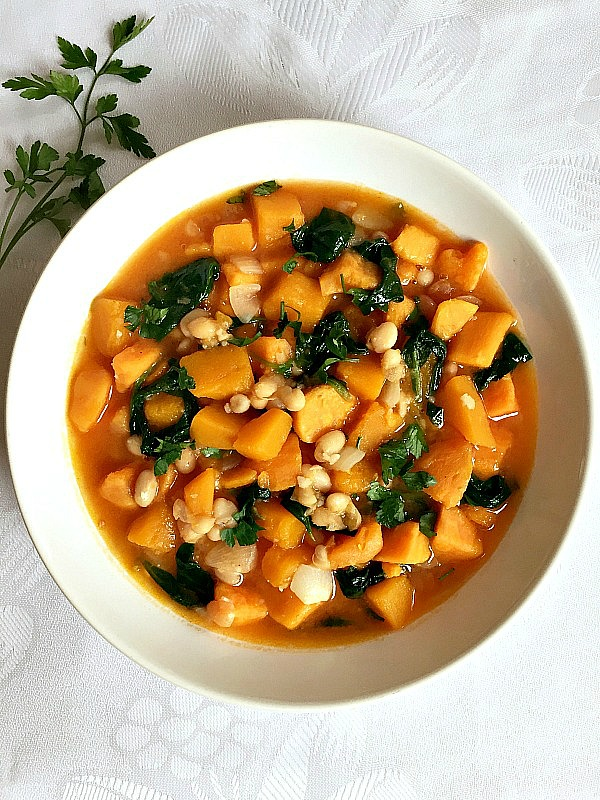 Butternut squash and sweet potato stew