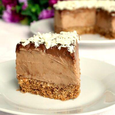 No-Bake Triple Chocolate Mascarpone Cheesecake