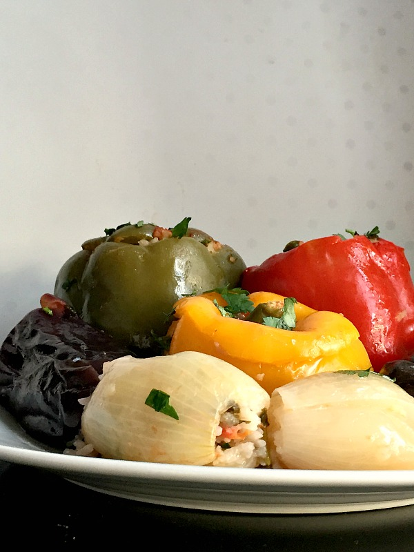 Dolma on a white plate
