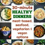 Delicious 30 minute healthy meals, a collection of recipes that are quick and easy to make. They cater for all tastes and life styles, and are worth a try.
