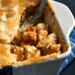 A casserole with chicken and leek pie