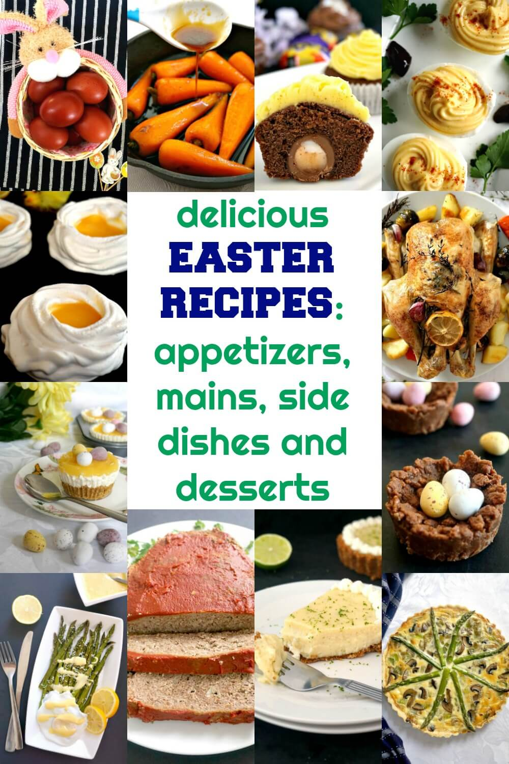 These fabulous Easter Food ideas cater for all tastes, they are extremely delicious and easy to make. From appetizers, to main courses, side dishes and desserts, there are recipes for everyone to enjoy.