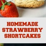 Homemade Strawberry Shortcakes from scratch, the ultimate summer treat. With a golden crumbly texture, silky and luscious cream and fresh juicy strawberries, no other dessert goes so well with a nice cup of tea. A great afternoon tea party dessert.