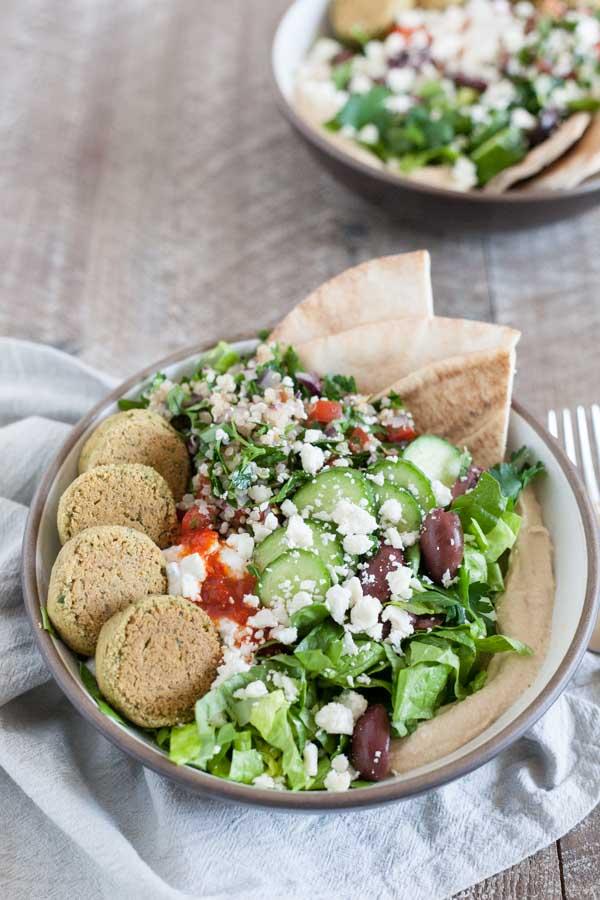 Mediterranean Falafel Bowls