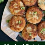 Mashed Potato Tuna Patties, the ideal last minute appetizers that can feed a hungry crowd. Ridiculously easy to make, these patties are a great way of using up leftover mashed potatoes, and also sneak in some good old tinned tuna. Easy healthy appetizers right here for you!