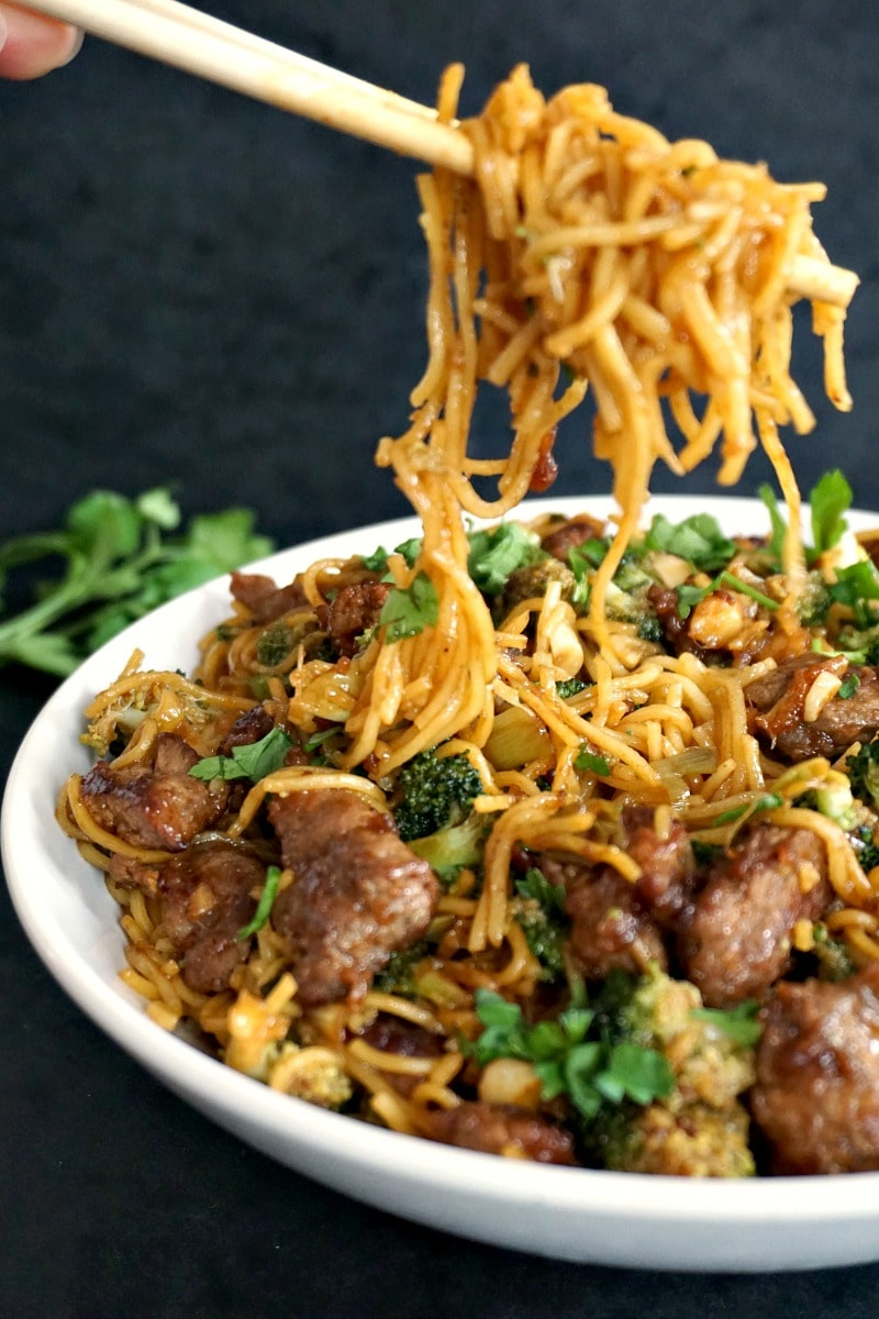 Chinese Broccoli And Beef Noodles Stir Fry My Gorgeous Recipes