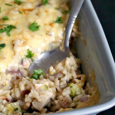 Leftover Chicken Broccoli Rice Casserole
