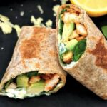 2 halves of chicken avocado wraps