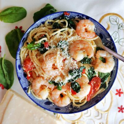 Prawn and Spinach Pasta