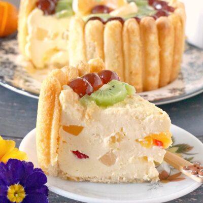 No-Bake Charlotte Cake