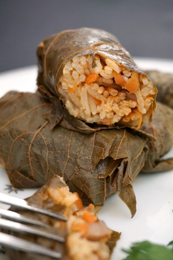 Vegetarian Stuffed Grape Leaves My Gorgeous Recipes