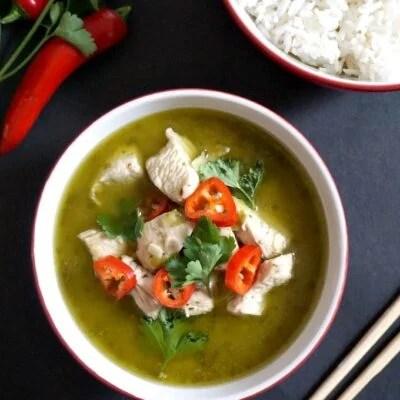 Fiery Thai Green Chicken Curry