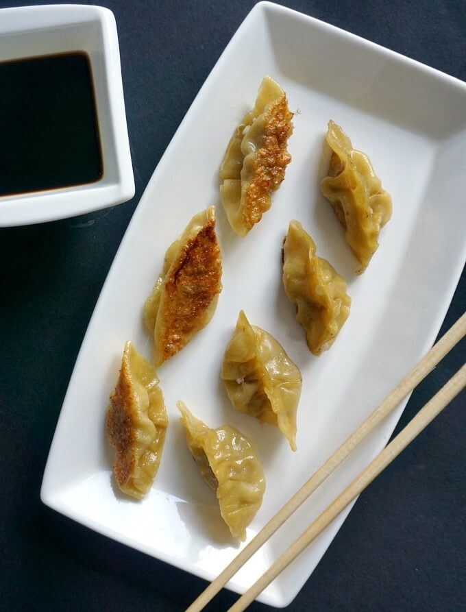 Pan Fried Dumplings Chinese Potstickers My Gorgeous Recipes