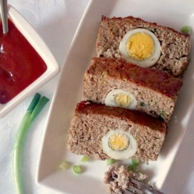 Moist Turkey Meatloaf with Hard-Boiled Eggs