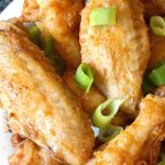 Easy Crispy Oven Baked Chicken Wings seasoned with garlic, paprika, salt and pepper, a healthy appetizer for every party. It's such a simple recipe, but these really are the best wings, and they taste just like the fried ones. Low carb, gluten free and keto too, since no flour is used, and so delicious! I'll show you how to get the best chicken wings with only 5 ingredients. The best Game Day appetizer. #chickenwings, #bakedwings, #lowcarb, #gamedayappetizer, #superbowl, #healthy, #ketorecipes