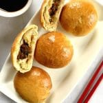 Baked Chinese Buns with Mushroom Filling, a true Asian delicacy. These dim sums are perfect for your Chinese New Year celebrations, and best served with a hot cup of green tea. The buns are baked to perfection, and have the right ratio dough/filling. Great for any party all year round.