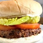 Vegan Black Bean Burgers, the best meat-free burgers that can be ready in well under 30 minutes. Low-calorie, high-protein, highly nutritious, and absolutely delicious, these bean burgers are so easy to make, you'll love them for sure! Plant-based burgers can be as nice as the meat ones, and healthy too. Enjoy them with the side of your choice, for the ultimate game day or BBQ experience. #blackbeanburgers, #veganburgers, #superbowlfood, #gameday, #healthyfood