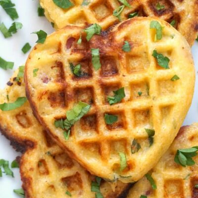 Cornbread Waffles with Bacon and Cheddar