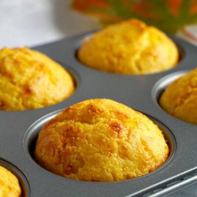 Savoury Cheddar Cornbread Muffins
