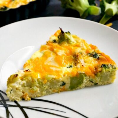 Low Carb Crustless Broccoli and Cheese Quiche