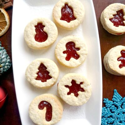 Christmas Linzer Cookies Recipe