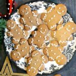 A plate with decorated gingerbread man cookies