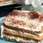Easy Tiramisu Recipe, my take on the classic Italian dessert, but with no alcohol and no eggs. This no-bake dessert is so indulgent and heavenly rich, made with those layers of coffee-soaked ladyfingers and silky mascarpone filling. It's a must-have dessert for any party or celebration. Ready in about 10 minutes. my tiramisu is the best dessert you can get. A family-favourite dessert no matter the season. #tiramisu, #dessert, #egglessdessert, #mascarpone, #italiandessert, #nobakedessert