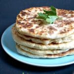 Easy No-Yeast Yogurt Flatbread, a delicious homemade recipe with only 4 ingredients. No proving, back-breaking kneading, and you have freshly-made flatbread on your table in less than 40 minutes.