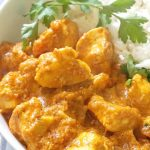 Indian Chicken Curry with Coconut Milk, a quick and easy recipe that is ready in about 30 minutes. Boneless chicken breast simmed in a rich and flavourful tomato and coconut sauce, with mild spices that give it an earthy touch, this chicken curry is a perfect midweek dinner recipe for the whole family. Nothing beats a homemade curry, and my recipe is simple anf failproof, that anyone can cook it to perfection. #chickencurry, #coconutmilk, #indiancurry, #comfortfood, #dinnerrecipe, #30minutemeals